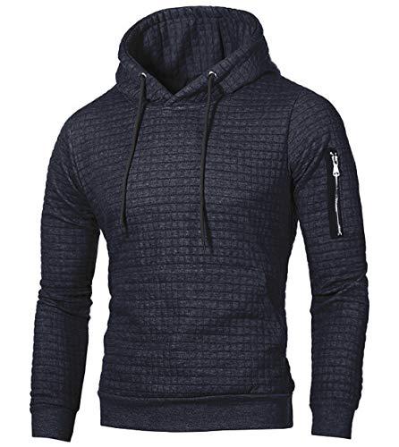 NEWISTAR Kapuzen Pulli Männer Einfarbige Langarmshirt Marine Hoodie Kapuzenjacke Pullover Herren
