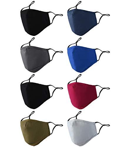 Face Mask Washable Reusable,Adjustable,Cotton, Cloth Face Mask for Men,Women