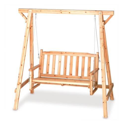 Outdoor Russian-pine Wood Swing [Kitchen]