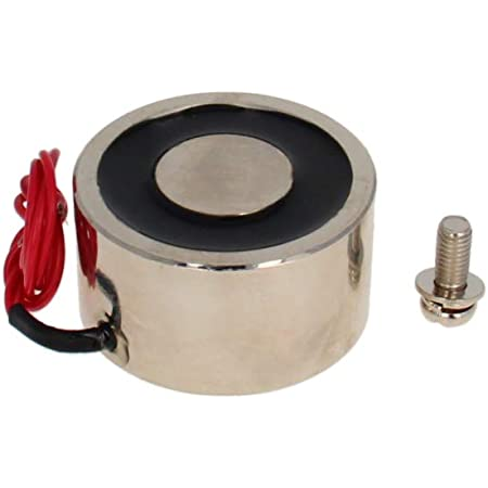 Fielect DC 12V 55Kg Electric Lifting Magnet Electromagnet Solenoid Lift Holding Circular Suction-Cup Electrical,0.68A 8.16W 1Pcs