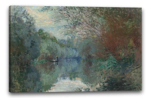 Printed Paintings Impresión Sobre Lienzo (100x70cm): Claude Monet - Sauces en Las orillas de los