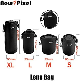 Photo Studio Accessories - Matin neoprene Lens Pouch s Size Universal Waterproof Soft Video Camera Lens Bag Case For for C...