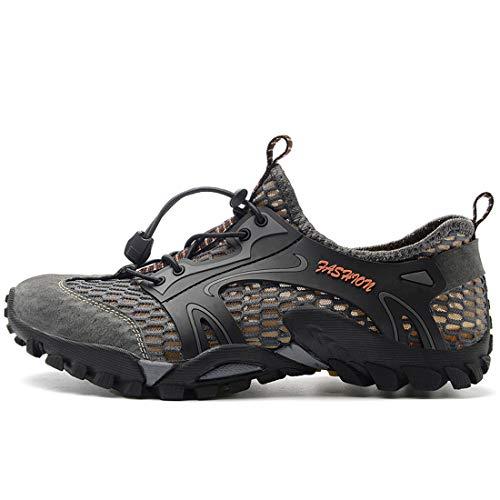 Al Aire Libre Malla Respirable Slip Alpinismo Sandalias,Deportivas Trekking Zapatos Casuales Transpirable,Al Aire Libre Acuático Cámping Agua Zapatos,Zapatos rápido Secado Impermeables y de Pesca