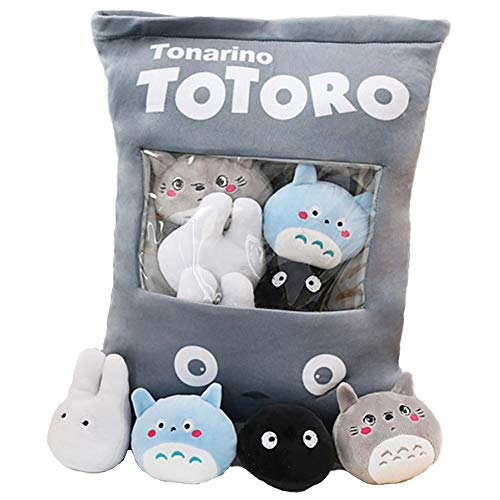 Nenalayo Plush Pillow Cute Totoro Animals Doll Toy Gifts for Teens Girls KidsSofa Chair Decorative Pillow