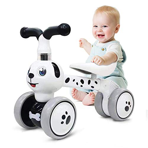 Ancaixin Baby Balance Bikes 10-36 Month Children Walker | Toys for 1 Year Old Boys Girls | No Pedal Infant 4 Wheels Toddler Bicycle | Best First Birthday New Year Holiday
