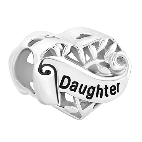 LovelyJewelry Sister Wife Grandma Heart Sterling Silver I Love You Filigree Tree of Life Charms for Bracelet (Daughter)