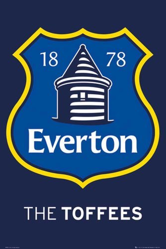 Empire Poster Club de Football Everton Crest 2013 avec accessoire bigarré