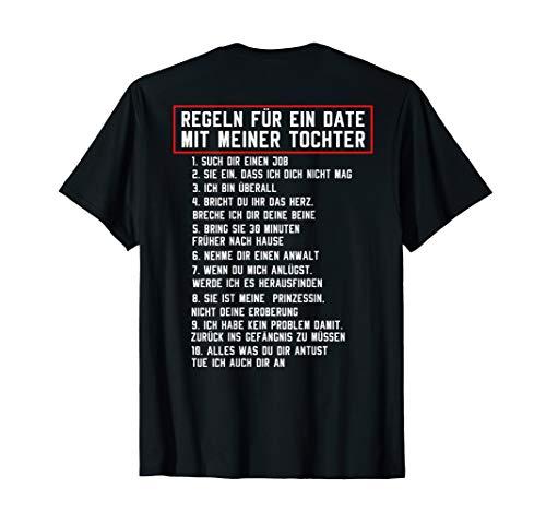 Tochter Vater Shirt Regeln Für Ein Date mit Meiner Tochter T-Shirt
