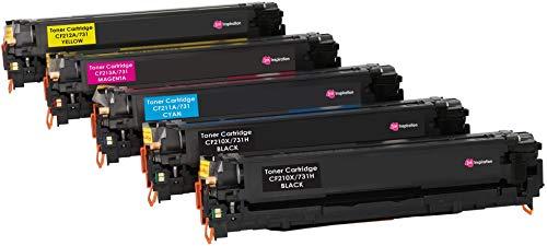 5er Set INK INSPIRATION® Premium Toner für HP Laserjet Pro 200 Color M251n M251nw MFP M276n MFP M276nw Canon LBP-7100CN LBP-7110CW MF-8230CN MF-8280CW | Schwarz 2.400 Seiten & Color je 1.800 Seiten