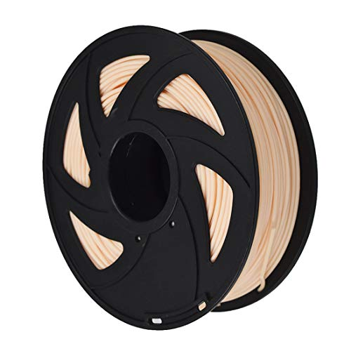 3D Printer Filament - 1KG (2.20 lbs) The Diameter of 3 mm, Dimensional Accuracy PLA Multiple Color, Color of Skin