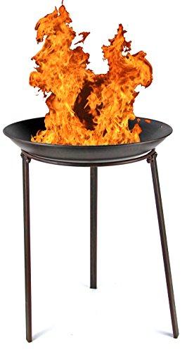 Onbekend tuindecoratieschaal 48 cm vuurkorf tuinhaard plantenschaal terrasoven vuur schaal terras vuur grill BBQ open haard decoratieve schaal