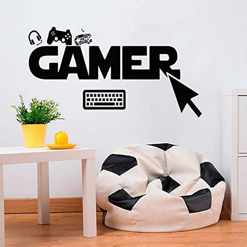 Tianpengyuanshuai Muursticker selectie klik controller videospel toetsenbord vinyl muursticker kinderen slaapkamer huisdecoratie