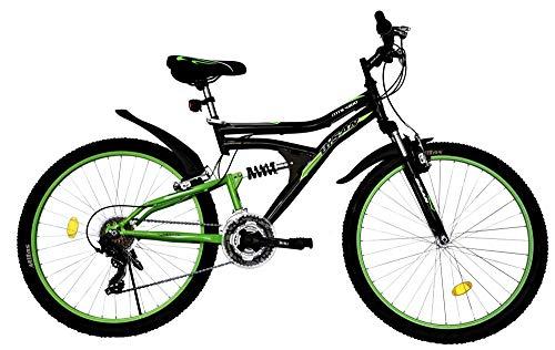 "T&Y Trade 24\"" 24 Zoll MTB Kinderfahrrad Mountainbike Kinder Mädchen Jugend Jungen Fahrrad Rad Bike Vollgefedert Fully 21 Gang 4300 Schwarz Grün"