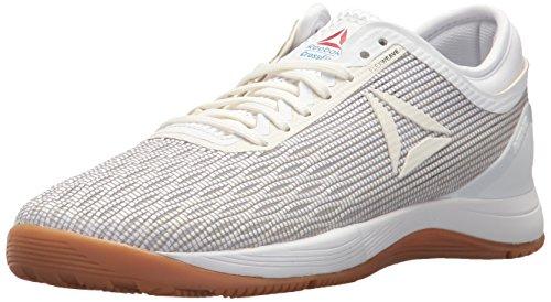 Reebok Women's Crossfit Nano 8.0 Flexweave Workout Joggers, White/Classic White/Excellent Red/Blue/Gum, 11 M US