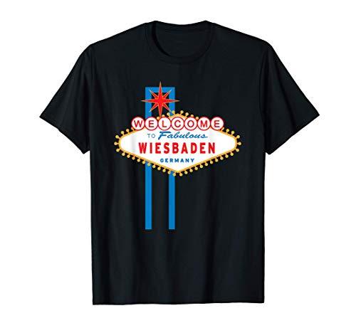 Stadt Wiesbaden Wiesbadener Souvenir Lustiger Spruch T-Shirt