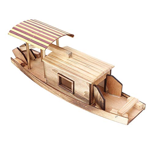 Wooden Jigsaw Puzzle 3D Boat Miniature Assembly Models Home Decoration DIY Boat Assembly Building Hand Craft Game Toy for Kids Adult