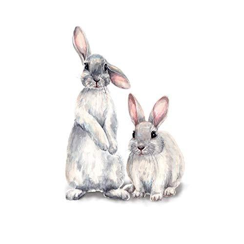 ZSDFW Animal Wall Sricker Lovely Rabbit Wall Decals...