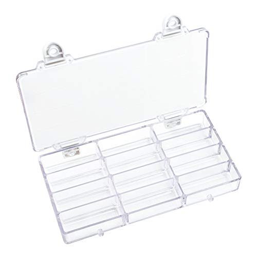 WANDIC Palette Box, 1 Pc 12-Well Empty Watercolour Box Airtight Paint Palette Container for Watercolor, Gouache, Acrylic and Oil Paint