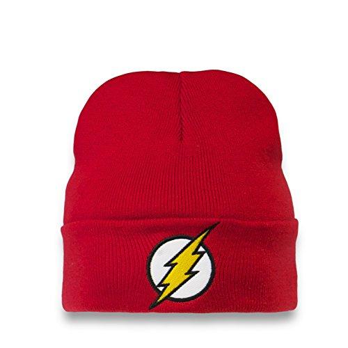 Logoshirt DC Comics - Flash Logo Bonnet en Laine Hiver Enfant - avec Logo brodé - Rot - Design Original sous Licence