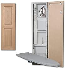 Premium Swivel Ironing Center Color (Door Style): Raised Oak Panel, Door Hinge: Right