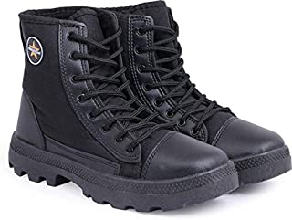 GoldStar Black Jungle Boots for Men