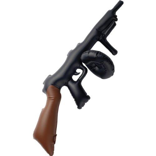 3X Enfants Noir Gonflable Tommy Gun, 75cm Fancy Dress Prop [Jouet]