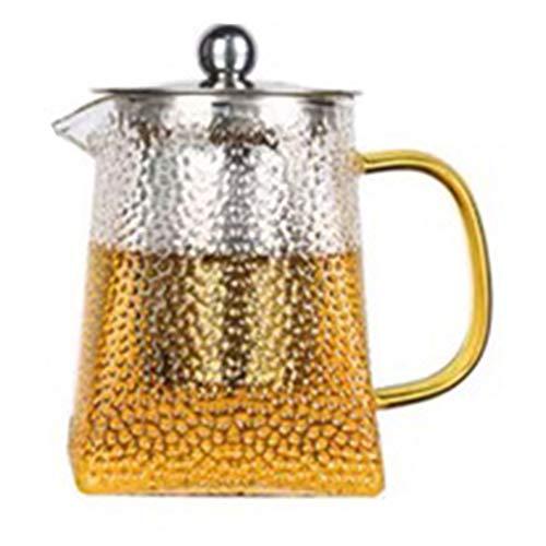 YRQ High Borosilicate Glass Teapot Water Kettle Clear Large Tea Pot Heat-Resistant Flower Tea Coffee Milk 700Ml