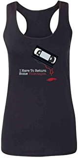 Pop Threads I Have to Return Some Videotapes Womens Tank Top