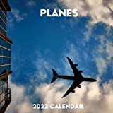 Planes 2022 Calendar: January 2022 - December 2022 Square Calendar Present | Planes Lover Gift Idea For Men & Women | Photo Book Monthly Planner With UK Holidays