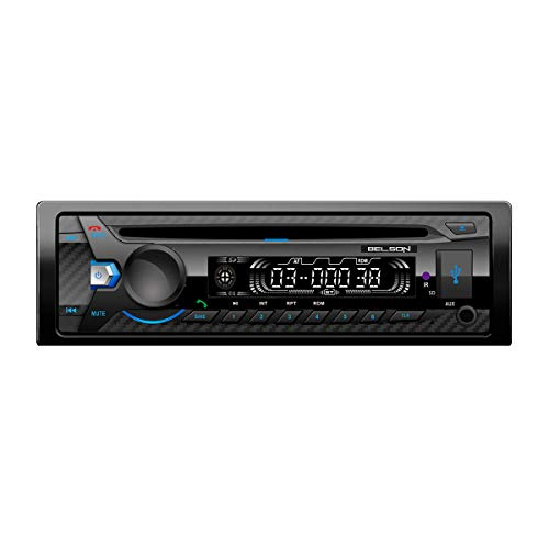 Radio CD/MP3 FM RDS Belson BS-12142BTW | Potencia 4x40W | USB | SD | Manos Libres Bluetooth | Reproductor de mp3 | Frontal Fijo.