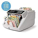 Safescan 2465-S - Contabanconote per banconote miste euro con rilevamento della contraffazione in 7 punti