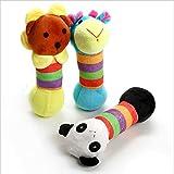 Three Environmental Plush Pet Toys, Look Like Giraffe, Lion, Panda,Let Your Dog no Longer Lonely.