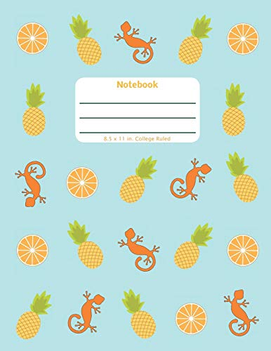 Notebook: Pineapple Orange - Large Notebook - Lined Pages in a Big Format with College Ruled Lines and a Soft Cover Paperback (Tropical Play Series)