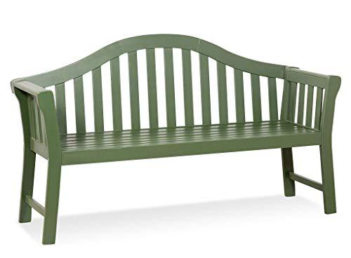 LANTERFANT - Gartenbank Joris, Teakfarbe, 3-sitzer, Hartholz, Erhältlich in fünf Farben, Grün, Moosgrün