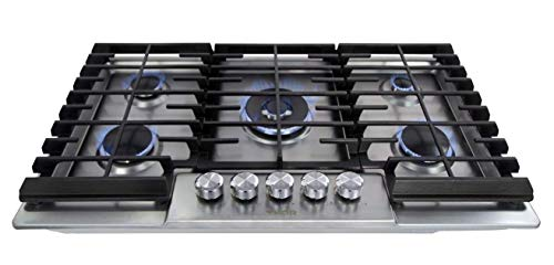 Thor Kitchen Pro-Style Stainless Steel Gas Range top, Gas Stove Top Cooker (36inch-3605)