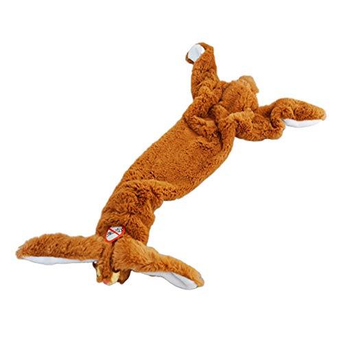 Hzb821zhup huisdier kat hond pluche puzzel molaren geluid speelgoed dierlijke simulatie geluid speelgoed ongevuld varken vos konijn vorm pop piepende beet spelen speelgoed, Eén maat, Rabbit#