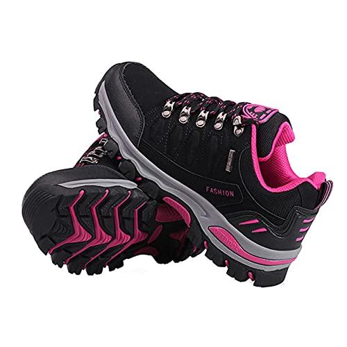 Damen-Wanderschuhe, leicht, niedrig geschnitten, für Trekking, Klettern, Bergsteigen, Trekking, Schuhe, Schwarz, 40 thumbnail