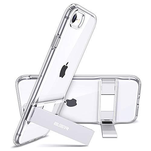 ESR Cover per iPhone SE 2020/8/7, Custodia per iPhone SE/8/7 con cavalletto [Posizione Verticale e Orizzontale] [Protezione Anticaduta Rinforzata] Protezione in TPU Morbida e Flessibile, Trasparente.