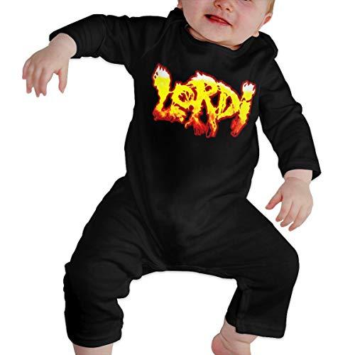 Lordi- Newborn Girls Boys Kid Body para bebé de Manga Larga para niños pequeños(12M,Negro)