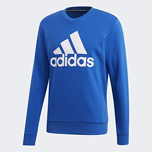 adidas Herren Mh Bos Crew Ft Sweatshirt, blau/weiß, XL