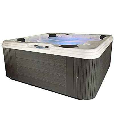 Essential Hot Tubs 50-Jet Polara Hot Tub, Seats 5-6, Gray
