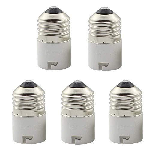 Convertitore da base lampadina E27 a B22, adattatore presa E27-B22, portalampada da E27 a B22, confezione da 5