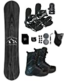 Symbolic Knotty Women's Snowboard & Bindings & Boots +Leash+Stomp+Mask+Burton Decal Package (9 Women Black Symbolic Binding+Boot, 150cm Knotty Hybrid Rocker)