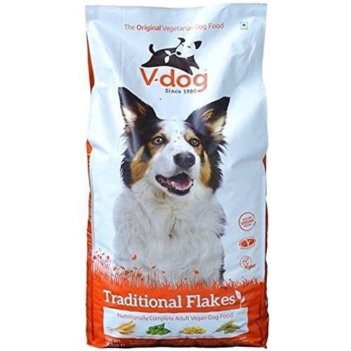 V-dog Vegan Dog Food. Complete dry dog food. Traditional Flakes non-gm,...