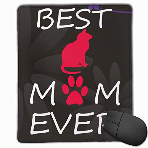 Best Cat Mom Ever Designed Rectangle Vertical Mouse Pads 7x9 in (18x22 cm)