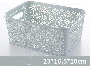 The New Storage Basket, Creative Plastic Desktop Hollow Folding Storage Basket Underwear Toys Baskets for Pantry Storage f...