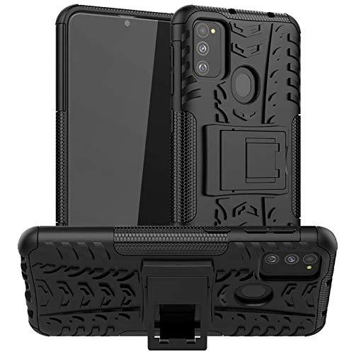 Conie Outdoor Hülle für Samsung Galaxy M30s / M21 / M31, verstärkte Schutzhülle rutschfest wasserabweisend Kantenschutz Rückschale Hülle in Schwarz