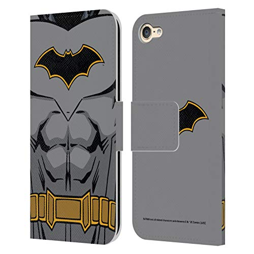 Head Case Designs Oficial Batman DC Comics Disfraz de Renacimiento Logotipos Carcasa de Cuero Tipo Libro Compatible con Apple Touch 6th Gen/Touch 7th Gen