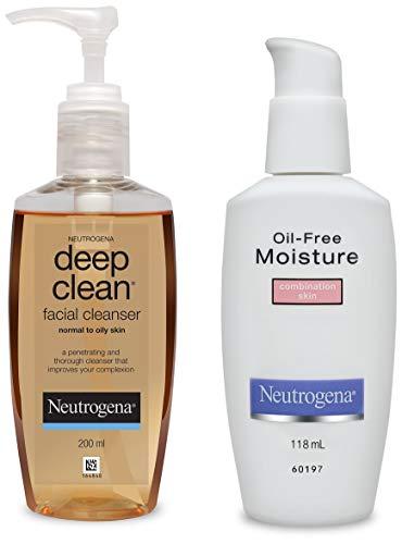 Neutrogena Deep Clean Facial Cleanser, 200ml and Neutrogena Oil Free Moisture For...