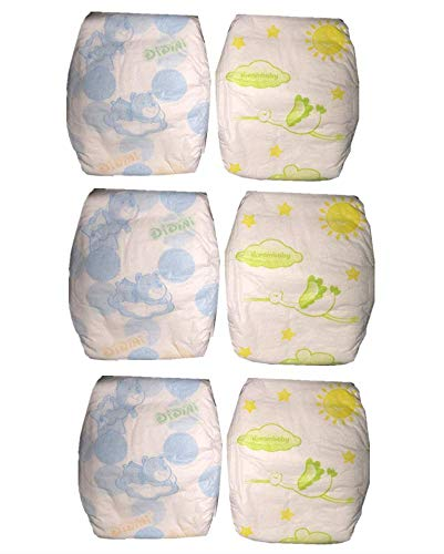 Reborn Baby Dolls Diapers 22 inch Newborn Reusable 6-Piece Pack Fit 18-22' Reborn Dolls Alive